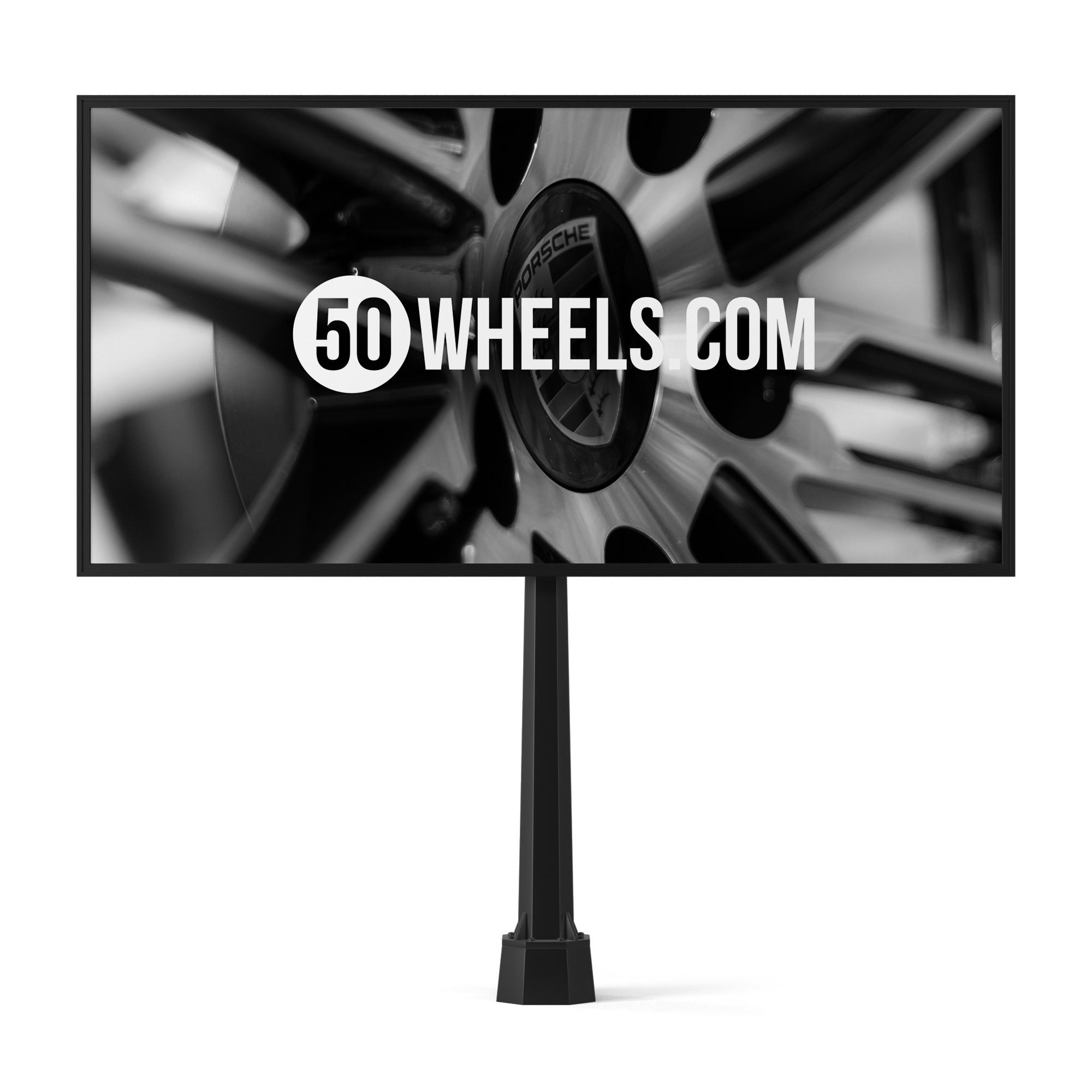 """Билборд для магазина автомобильных дисков и шин """"50wheels.com"""""""